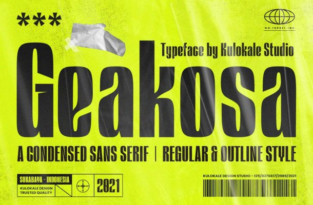 Geakosa Font