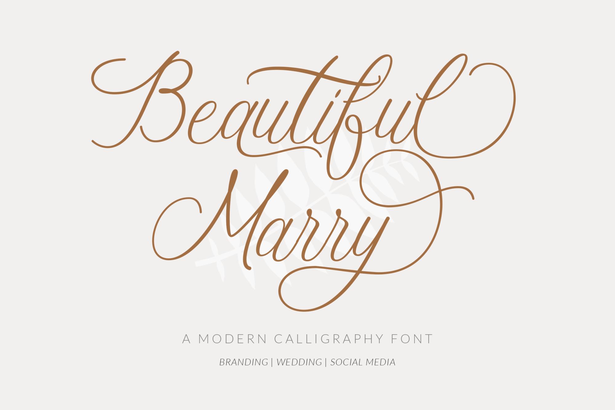 Beautiful-Marry-Font