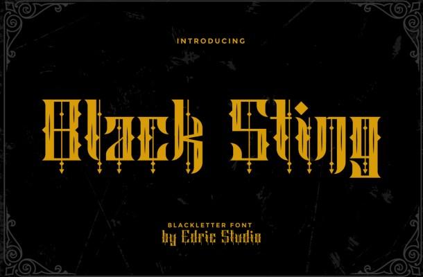 Black Sting Font