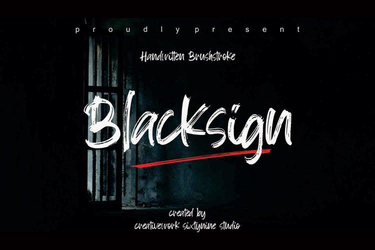 Blacksign-Font