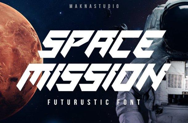 Space-Mission-Font