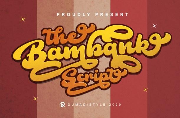 The Bambank Script Font