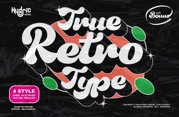 True Retrotype Font