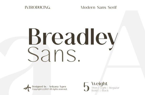 Breadley Sans Font