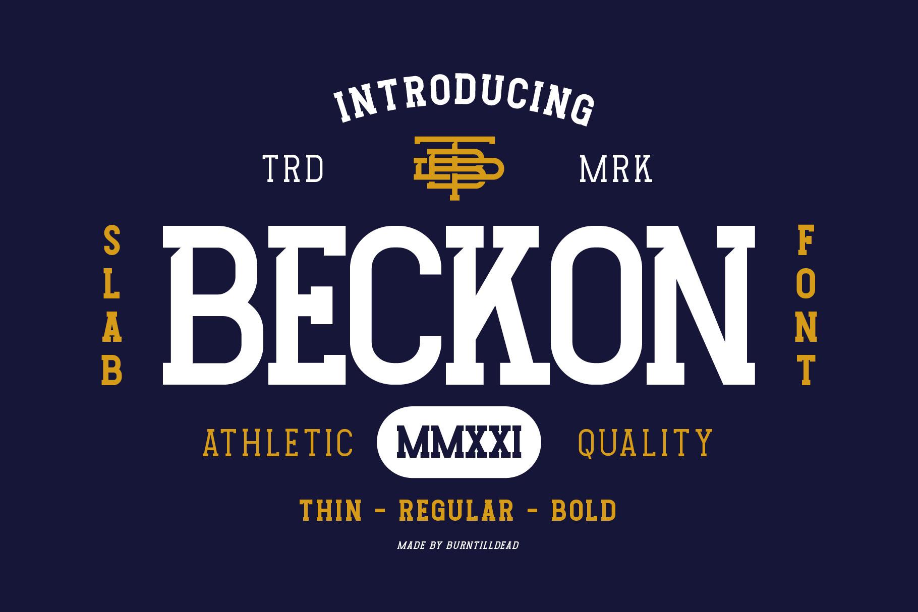 Beckon-Font
