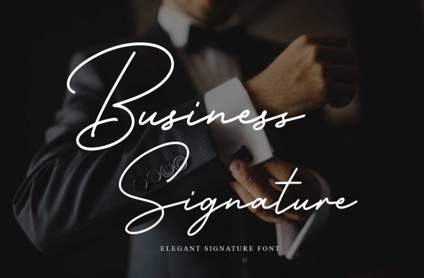 Business Signature Font
