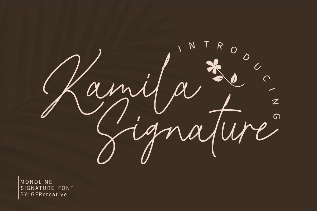Kamila-Signature-Font