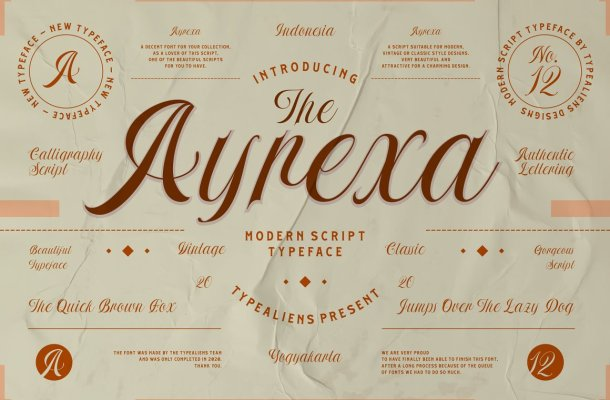 Ayrexa-Font
