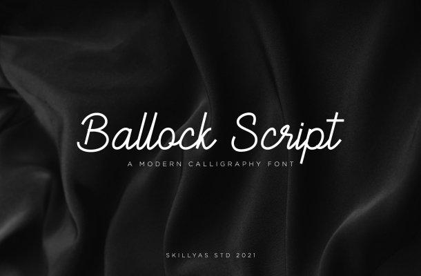 Ballock Script Font