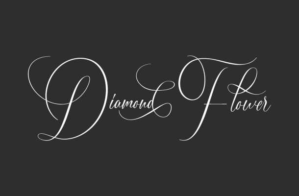 Diamond Flower Font