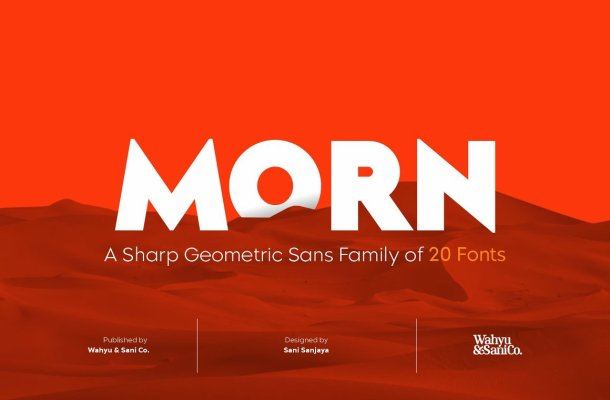Morn Sharp Geometric Font