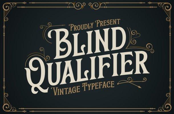Blind Qualifier Font