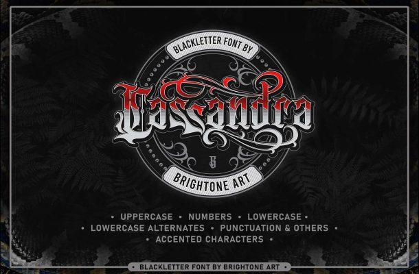 Cassandra Tattoo Font