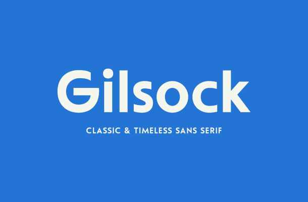 Gilsock Sans Font