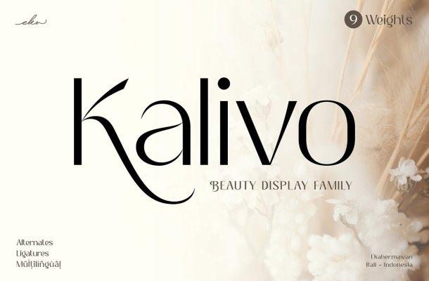 Kalivo Display Font