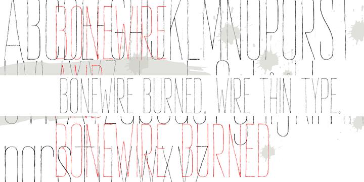 Bonewire Font Family