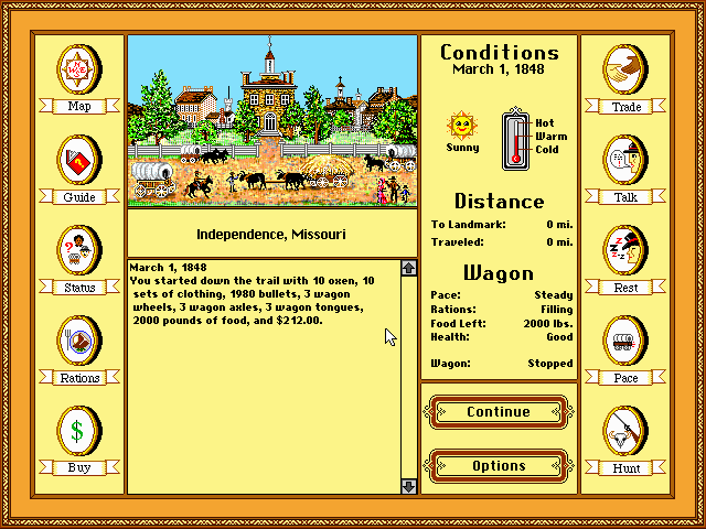 Oregon Trail Old DOS Games Download For Free Or Play On Windows Online