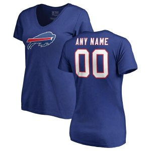 a2788810f Women s Buffalo Bills NFL Pro Line Royal Any Name   Number Logo Personalized  T-Shirt