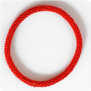 Beaded Twisted Bangle by Raïssa Bump