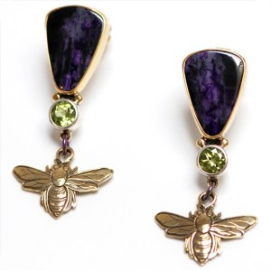 Bee Earrings by Kit Carson