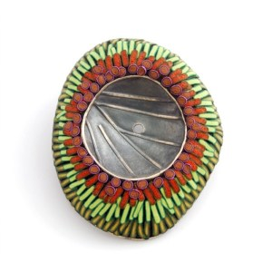 Green and Rust Brooch by Ford + Forlano