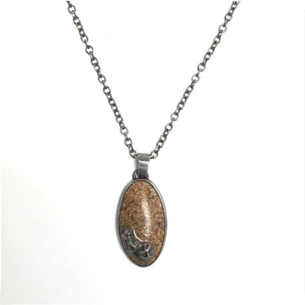 Sand and Barnacle Pendant by Casey Sharpe