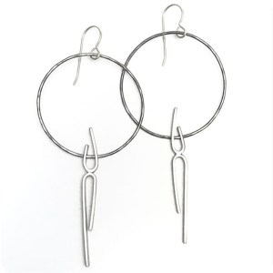 Tiny Dancer Hoop Earrings by Vanessa Gade