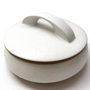 large white ceramic casserole bowl with lid