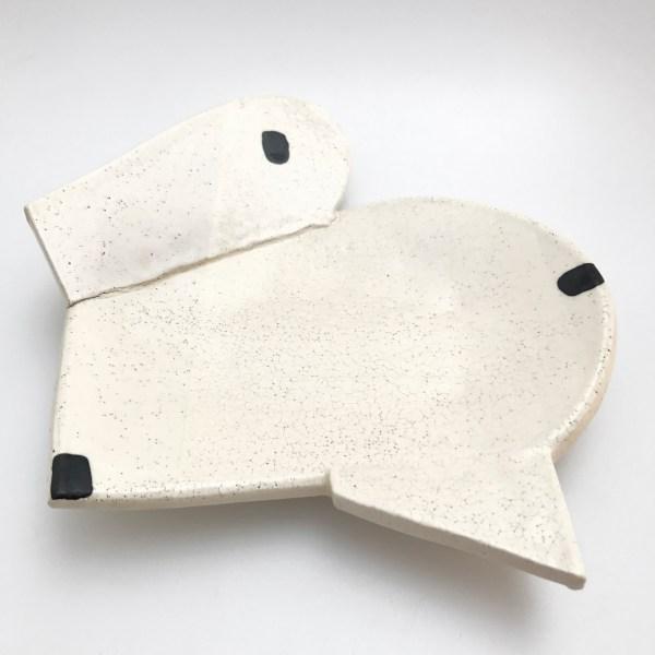 Black and White Ceramic Plate