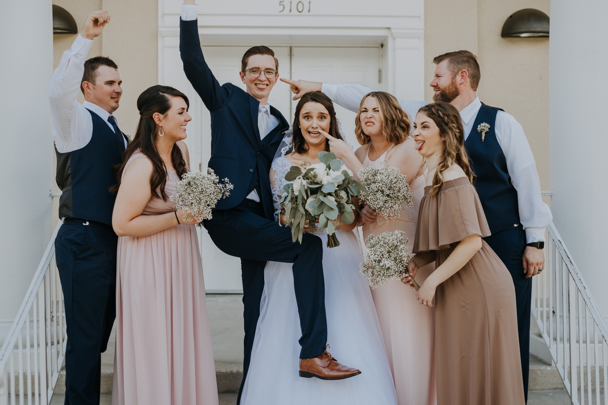 bridal party portraits | Tampa wedding | Emily + Aaron | Freehearted Film Co | Tampa Wedding Photography and Wedding Videography