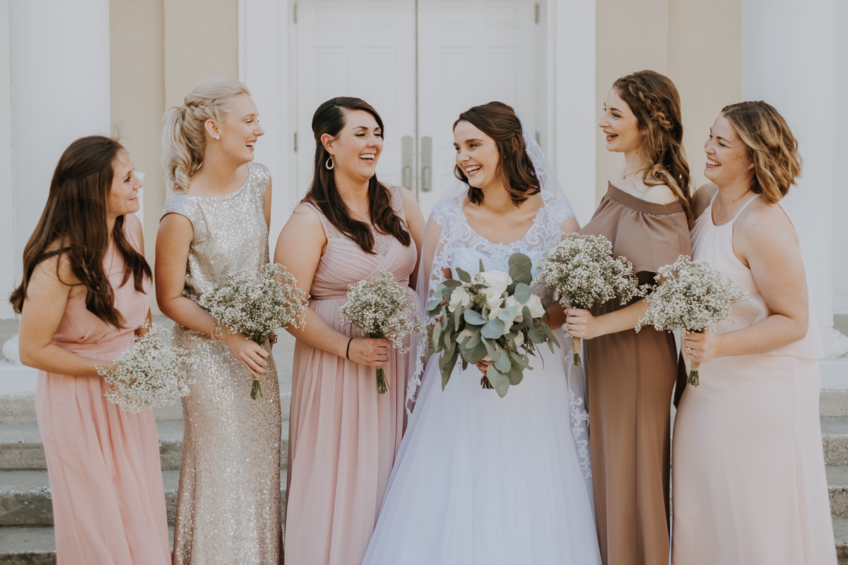 mix and match bridesmaids Tampa wedding | Emily + Aaron | Freehearted Film Co | Tampa Wedding Photography and Wedding Videography