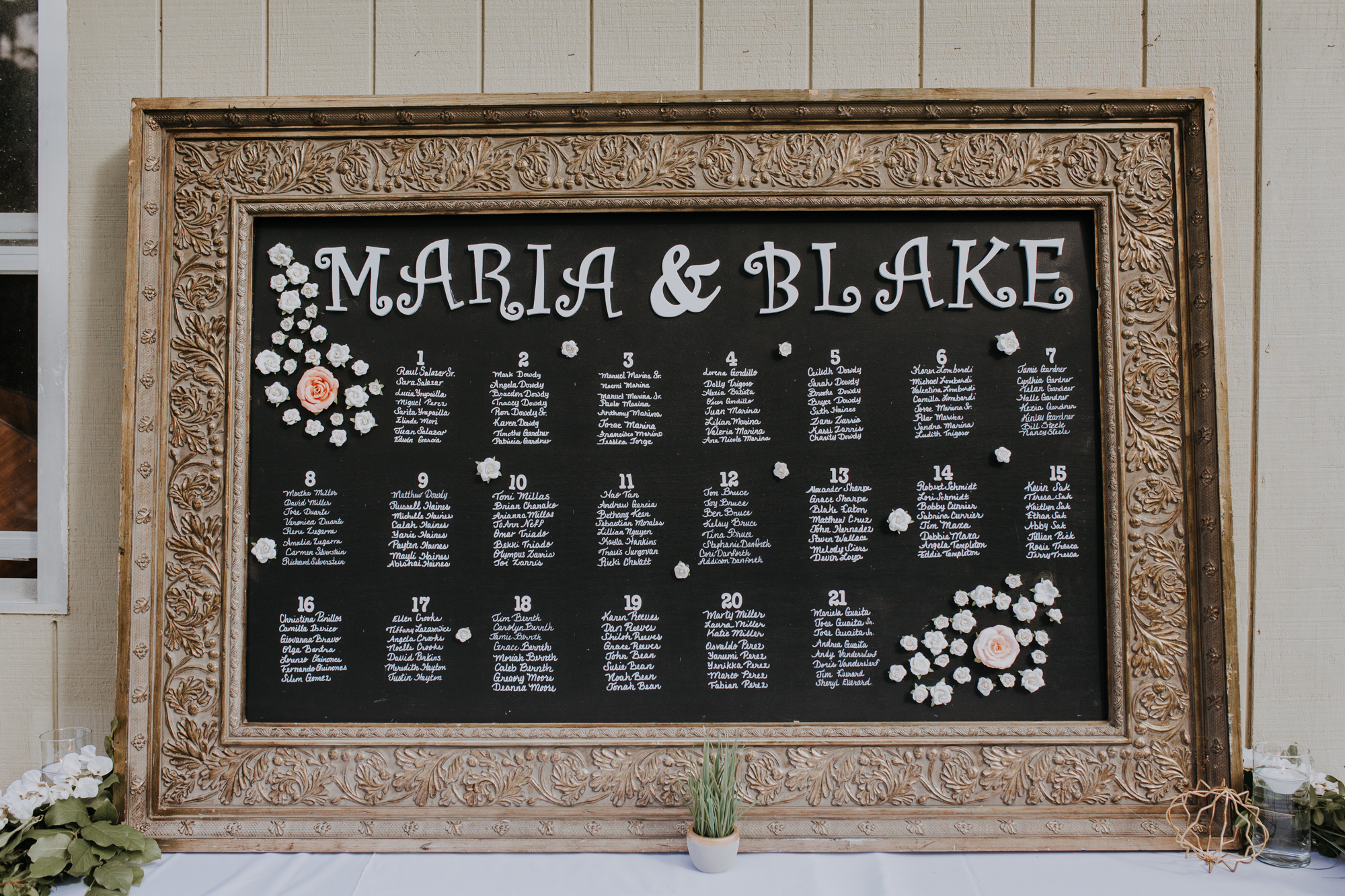 boho seating chart | bohemian seating chart | chalkboard seating chart | boho reception | sarasota wedding photographer