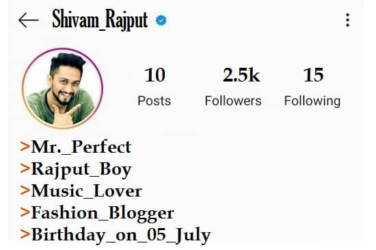 Best 2020 Instagram Bio For Rajput Boy In Hindi English So now you know that when people talk about instagram bio fonts, they're really just talking about sets of unicode characters which look like fonts. best 2020 instagram bio for rajput boy