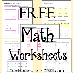 Today we are offering free math worksheets ...