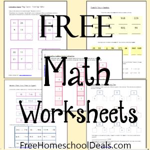 Free Math Worksheets 1st-2nd Grade   Free Homeschool Deals ©