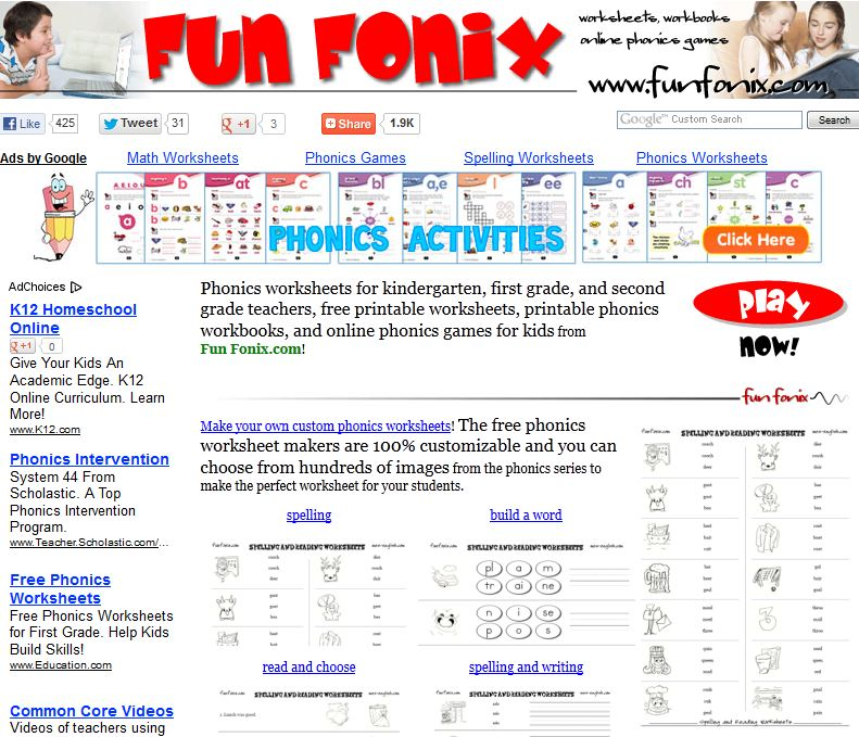 Free Phonics Worksheets, Free Phonics Games, + More! | Free ...
