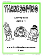Free Thanksgiving Activity Pack