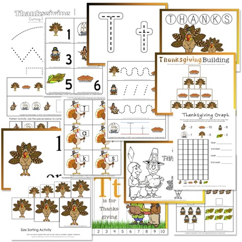 Free Thanksgiving Preschool Printable Pack   Free ...
