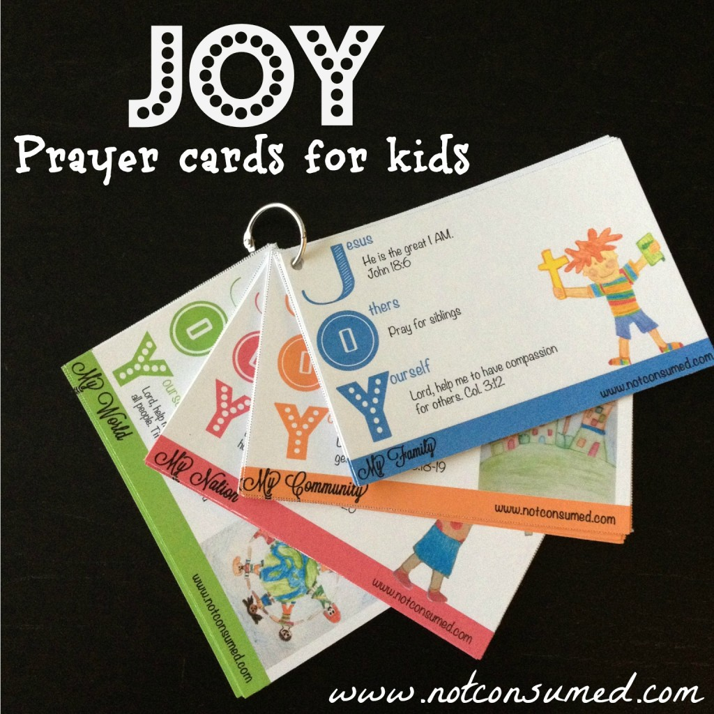 Free Joy Prayer Cards For Kids Two Days Only