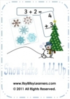 Free Christmas Winter Adding Up Activity