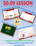 Homeschool Math Freebie:  Introduction to Place Values (Multimedia Lesson with Interactive Quiz)