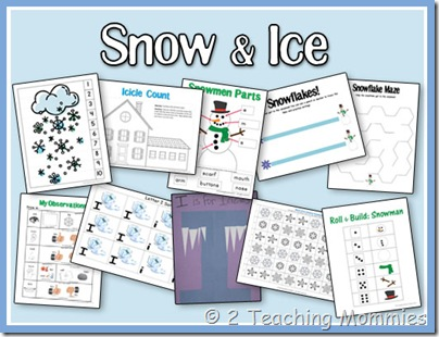 free snow and ice preschool printable pack free homeschool deals. Black Bedroom Furniture Sets. Home Design Ideas