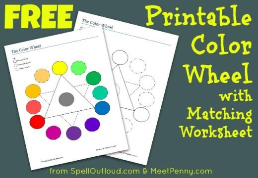 Free Printable Colorwheel with Matching Worksheet