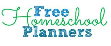Free Homeschool Planners