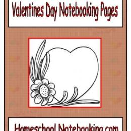 Free Valentine's Day Notebooking Pages