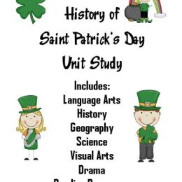 History of St Patrick's Day Unit Study with FREE Printables and Worksheets (PreK – 5)