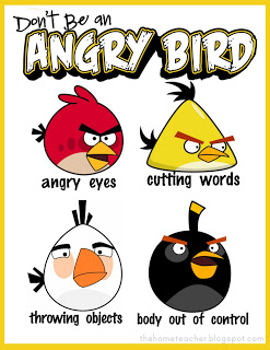 Free Angry Bird Anger Management Lessons and Printables for Kids
