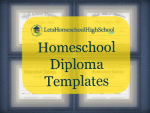 free homeschool high school diploma templates