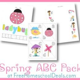 Free Worksheets: Spring ABC Printable Pack