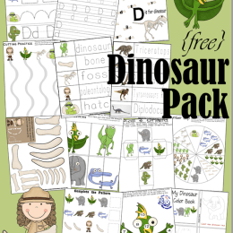 Free Dinosaur Preschool Learning Pack